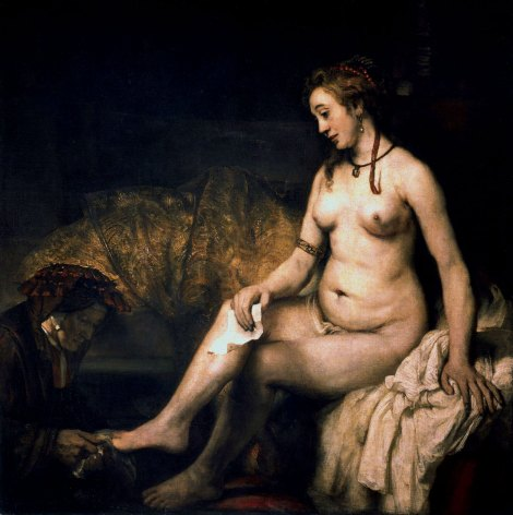 Bathsheba at Her Bath 1654. Rembrant