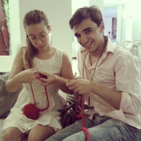 Rocío de WOMANWORD y Guillermo de Tu Cara Espanta