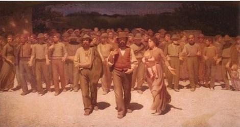 El Cuarto Estado, de Giuseppe Pellizza da Volpedo