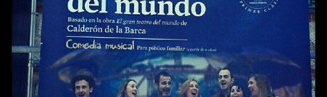 Cartel Otro Gran Teatro del Mundo en las Naves del Español. Matadero de Legazpi. Foto por WOMANWORD en Instagram @Woman_Word